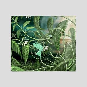 lily leaf dragon Throw Blanket