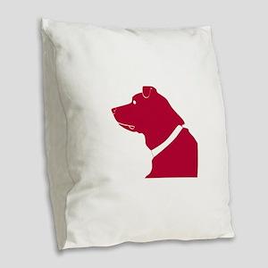 Labrador retriever dog Burlap Throw Pillow
