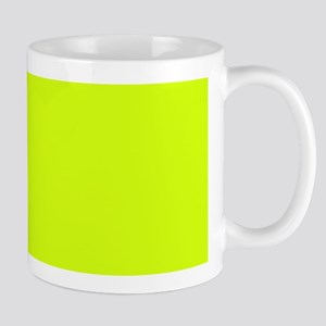 Neon Yellow Solid Color Mugs