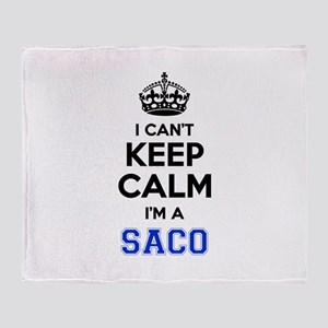 I can't keep calm Im SACO Throw Blanket