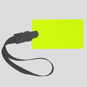 Neon Yellow Solid Color Large Luggage Tag