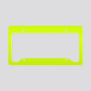 Neon Yellow Solid Color License Plate Holder