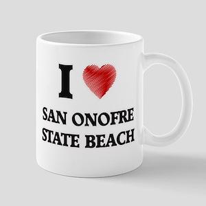 I love San Onofre State Beach California Mugs
