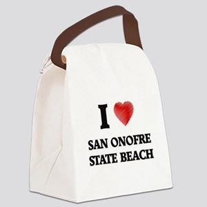 I love San Onofre State Beach Cal Canvas Lunch Bag