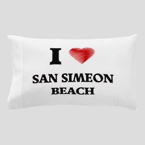 I love San Simeon Beach California Pillow Case