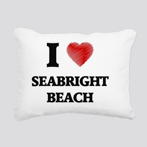 I love Seabright Beach C Rectangular Canvas Pillow