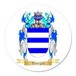 Vanegas Round Car Magnet