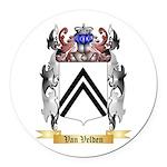 Van Velden Round Car Magnet
