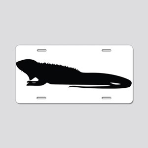 Changeable lizard silhouett Aluminum License Plate