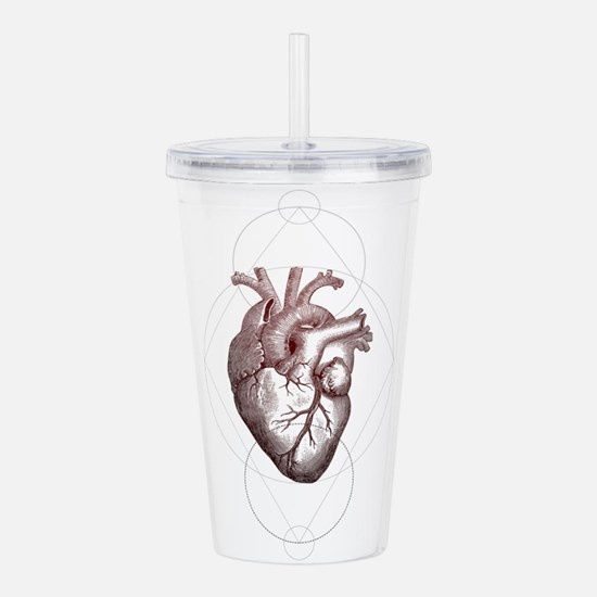 Geometric Heart Acrylic Double-wall Tumbler