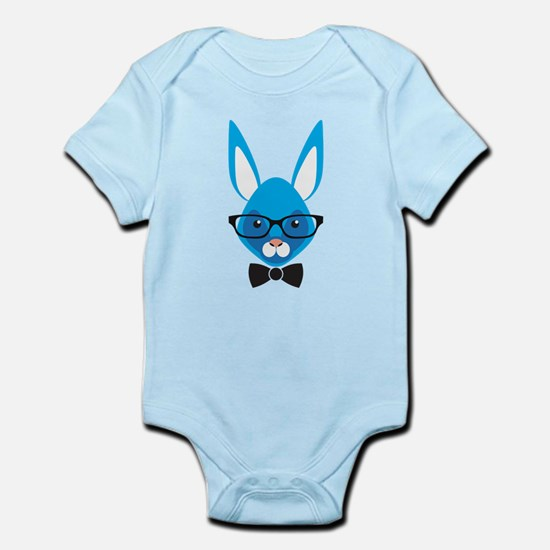Rabbit with glasses Body Suit