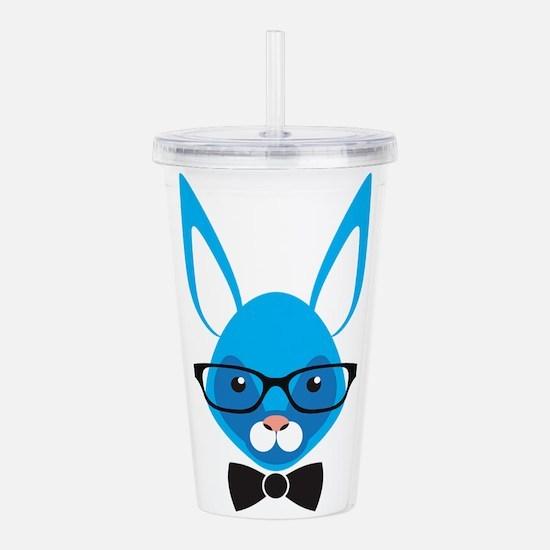 Rabbit with glasses Acrylic Double-wall Tumbler