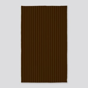 Chocolate and Lime Pinstripes Area Rug