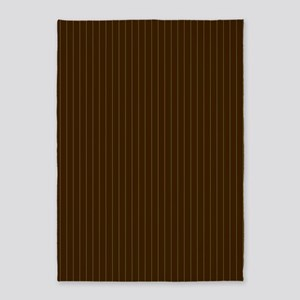 Chocolate and Lime Pinstripes 5'x7'Area Rug