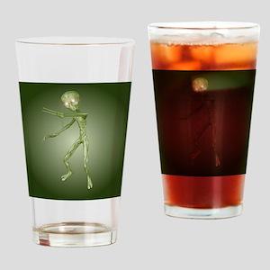 Green Alien Monster Drinking Glass