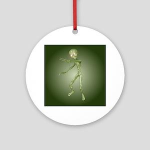 Green Alien Monster Round Ornament