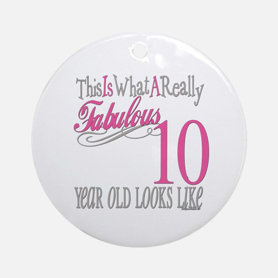 10th Birthday Gifts Ornament (Round)