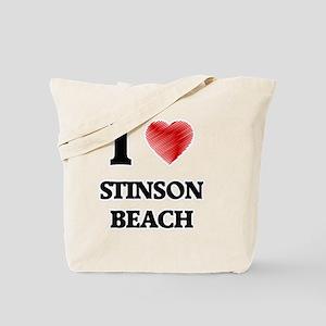 I love Stinson Beach California Tote Bag