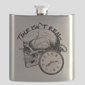 Vintage Skull & Pocket Watch Flask