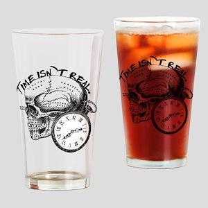 Vintage Skull & Pocket Watch Drinking Glass