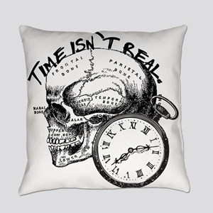 Vintage Skull & Pocket Watch Everyday Pillow