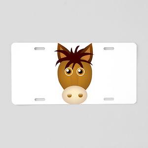 Horse face cartoon Aluminum License Plate