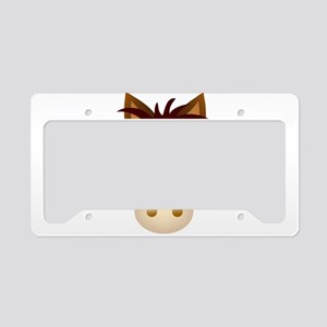 Horse face cartoon License Plate Holder