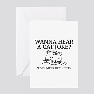 Just Kitten Greeting Card