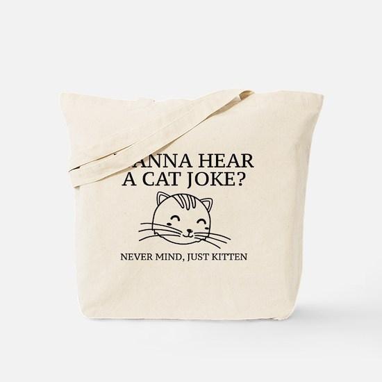 Just Kitten Tote Bag
