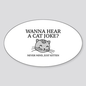 Just Kitten Sticker (Oval)