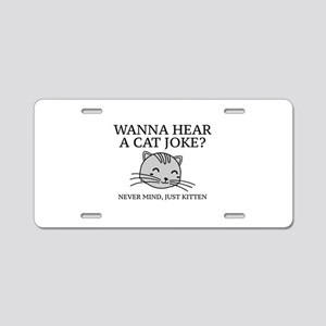 Just Kitten Aluminum License Plate