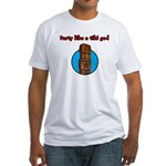 Party Like a Tiki God Fitted T-Shirt