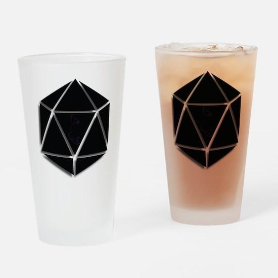 Mer Made Designs Logo Drinking Glass