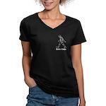 Roto Women's V-Neck Dark T-Shirt