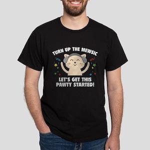 Turn up The Mewsic Dark T-Shirt