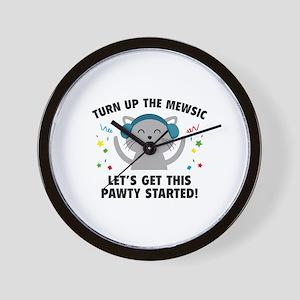 Turn up The Mewsic Wall Clock
