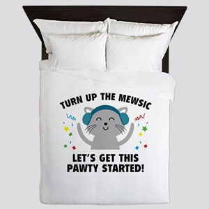 Turn up The Mewsic Queen Duvet
