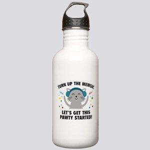 Turn up The Mewsic Stainless Water Bottle 1.0L