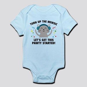Turn up The Mewsic Infant Bodysuit