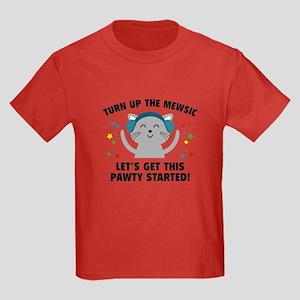 Turn up The Mewsic Kids Dark T-Shirt