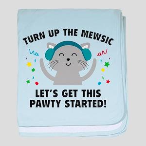 Turn up The Mewsic baby blanket