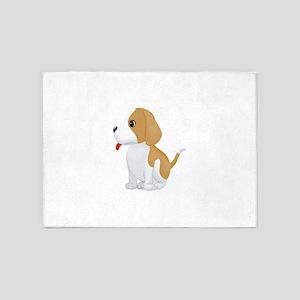 Pembroke welsh corgi dog 5'x7'Area Rug