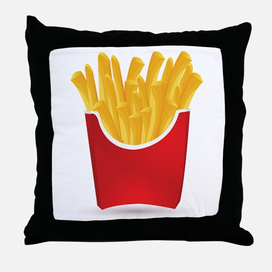 French fries art Throw Pillow