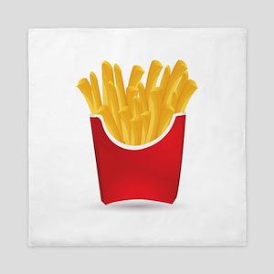 French fries art Queen Duvet