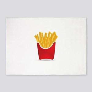 French fries art 5'x7'Area Rug