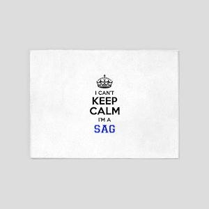 I can't keep calm Im SAG 5'x7'Area Rug