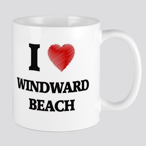 I love Windward Beach New Jersey Mugs