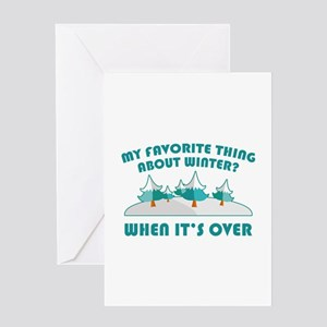 I hate winter greeting cards cafepress favorite thing about winter greeting card m4hsunfo