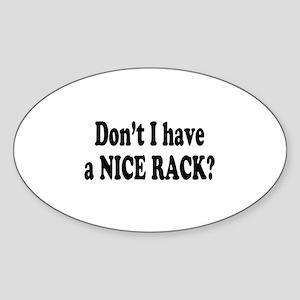 Nice Rack Oval Sticker