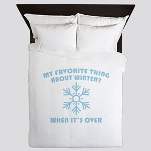 Favorite Thing About Winter Queen Duvet
